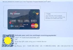 Thẻ payoneer cho freelancer