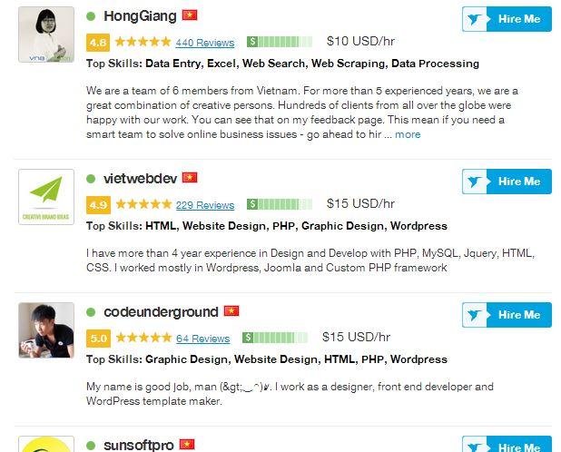 freelancer vietnam tại freelancer.com