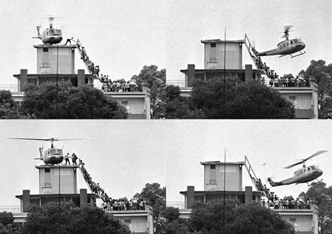 4 ảnh thật do PV Hubert Van Es chụp, tựa đề Fall of Saigon ( Sài Gòn xụp đổ) - ngày 29/4/1975 https://iconicphotos.wordpress.com/tag/hubert-van-es/