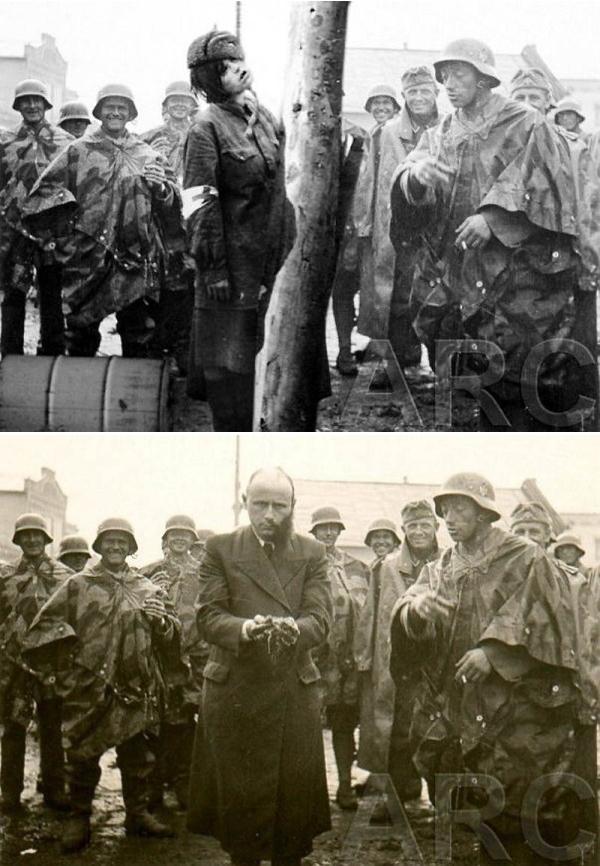 Bức ảnh quá phù hợp để ghép một cảnh treo cổ nữ y tá Hồng quân